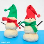 Play dough snowman kit for kids