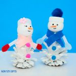 Pine Cone Snow Friends: Snowman and Snow Woman