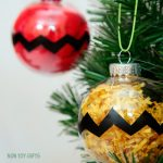 Charlie Brown Kid-made Christmas Ornaments
