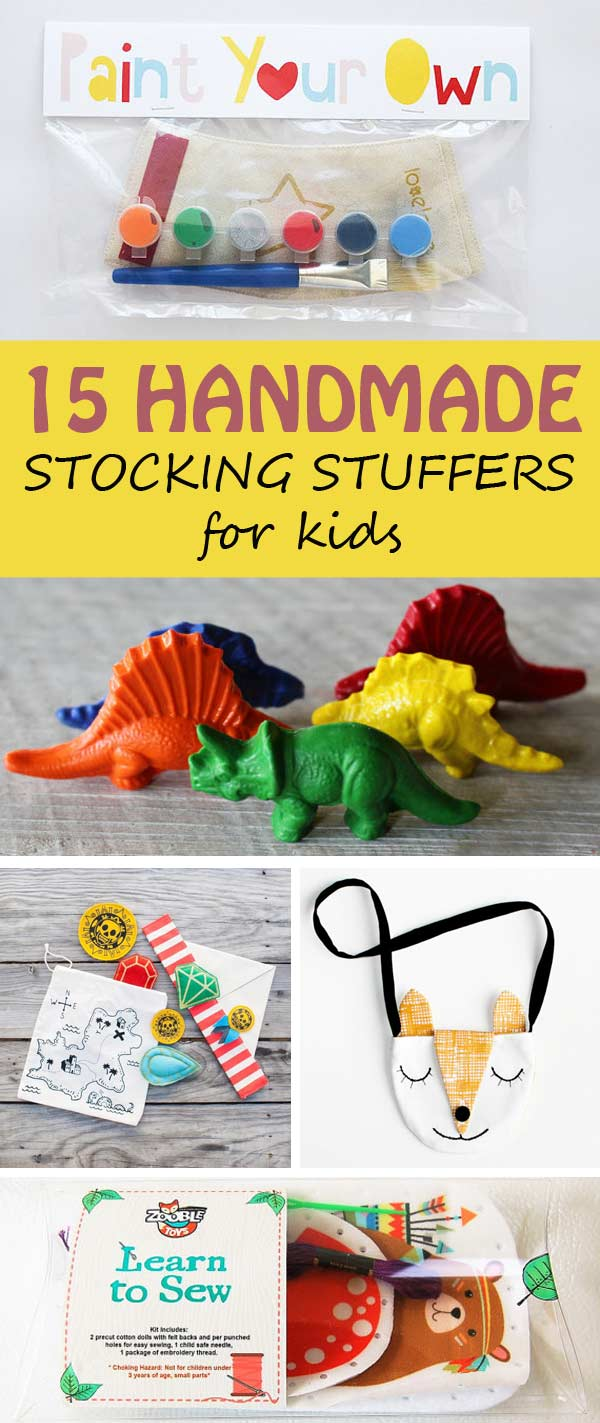 15 handmade stocking stuffers to get for your kids this Christmas. Fun and affordable. | at Non-Toy Gifts