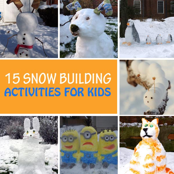 Snow building activities for kids to try this winter