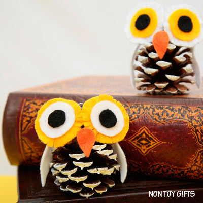 Pine Cone Winter Owl Craft