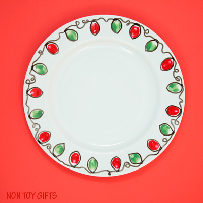 Christmas Plate Gift – a Kid-made Gift