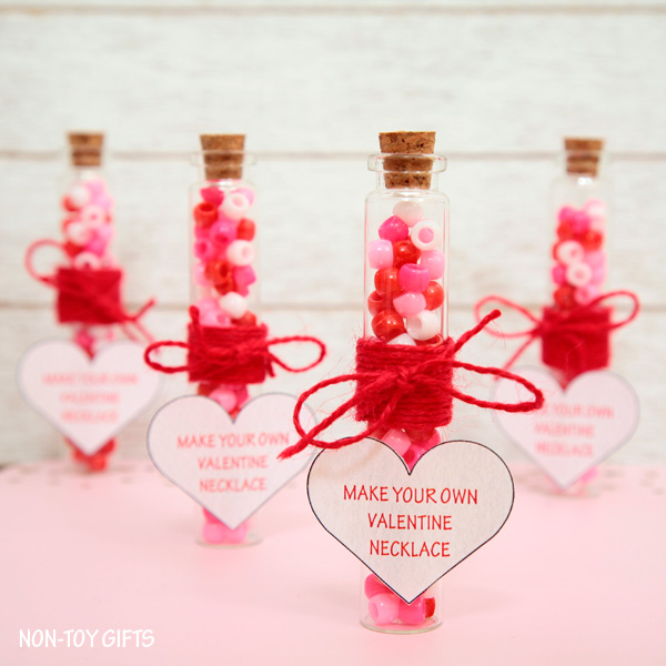 make your own valentine necklace is a sweet and simple diy valentine favor that you can