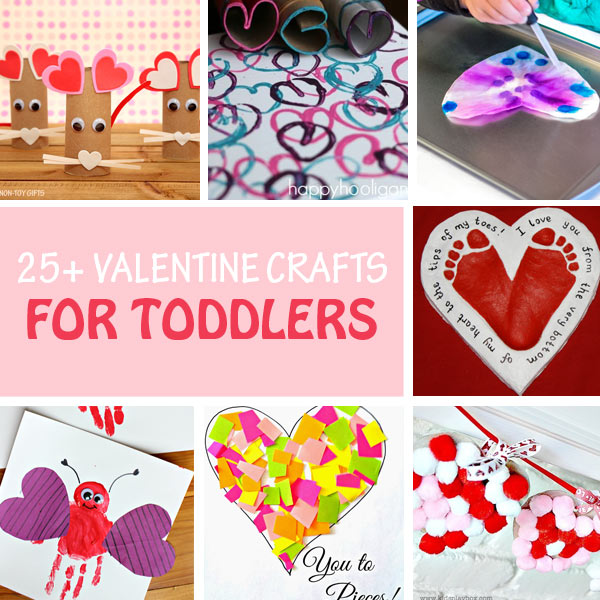 Toddler Valentine crafts collage
