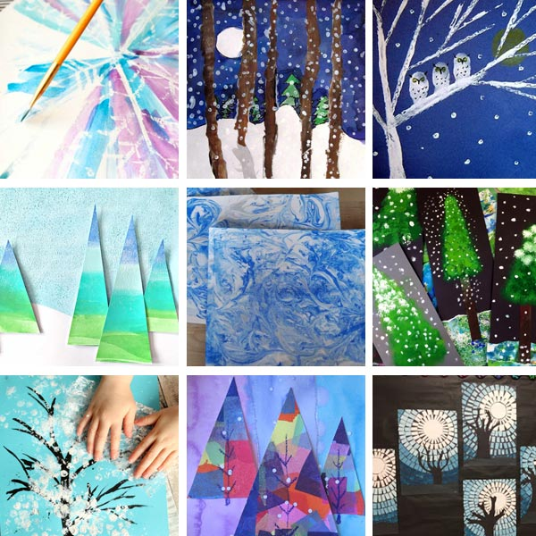 Winter art projects for kids 2