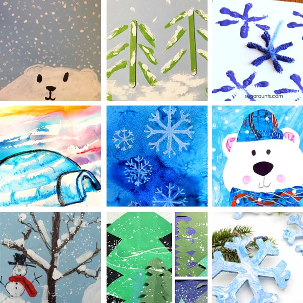 Winter art projects for kids 3