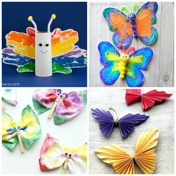Butterfly crafts for kids. Spring craft for toddlers, preschool and kindergartner. Classroom craft. | at Non-Toy Gifts
