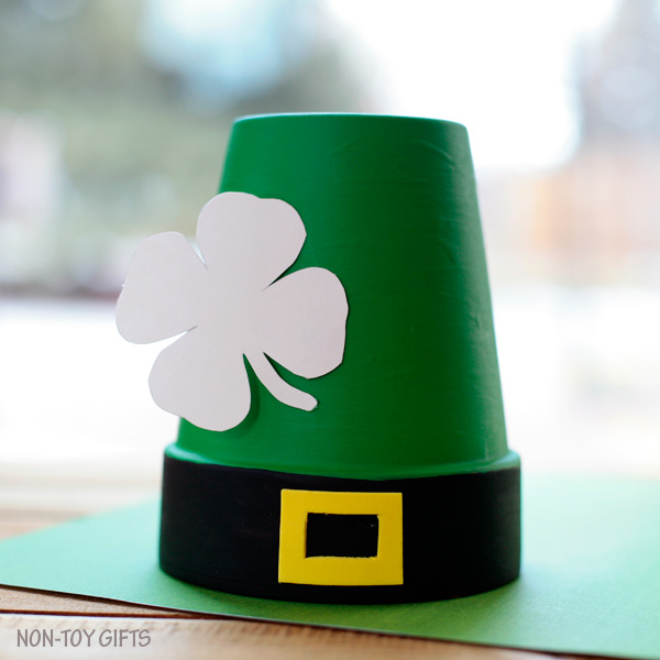 Clay pot leprechaun St Patrick's Day craft for toddlers, preschoolers and older kids. | at Non-Toy Gifts