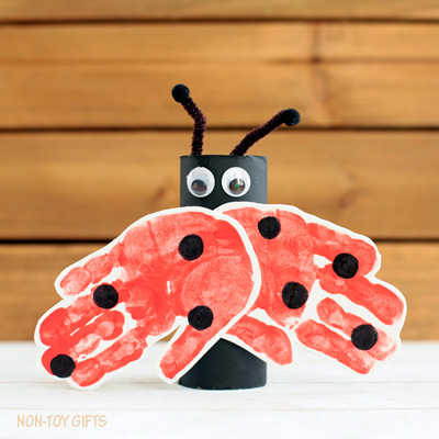 Paper Roll Ladybug Craft for Kids
