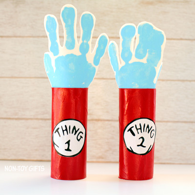 Thing 1 and Thing 2 Paper Roll Craft