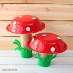 Paper Bowl Mushroom Spring Craft