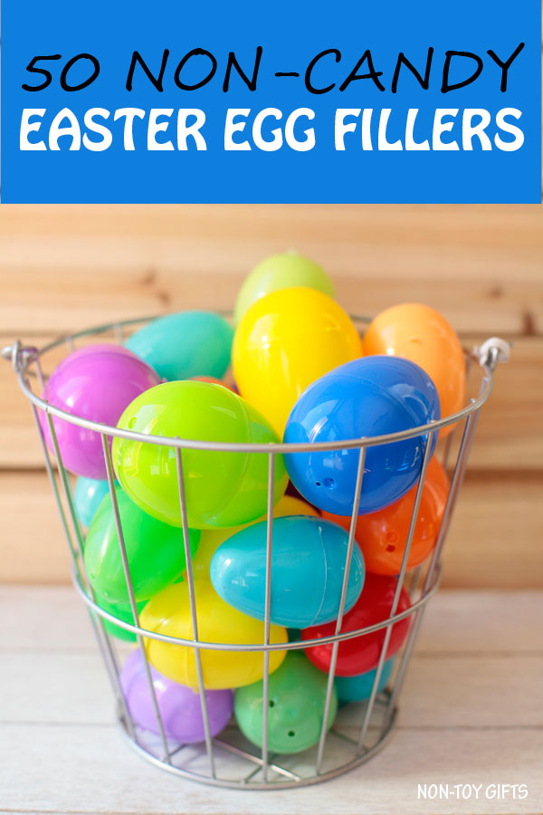 50 non-candy Easter egg fillers for preschool, kindergarten. Perfect for Easter egg hunt for kids. Easter themed egg fillers, accessories, toys, craft supplies and more. | at Non-Toy Gifts