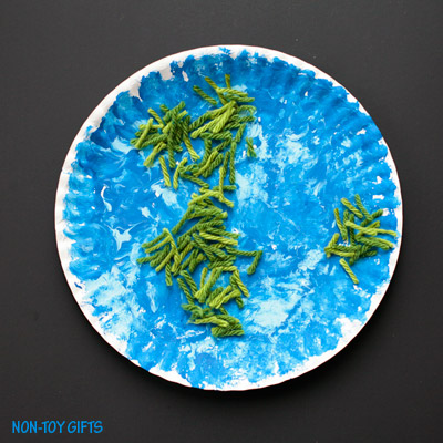 Paper Plate Earth Craft for Kids