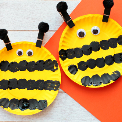Easy Paper Plate Bee Craft for Kids