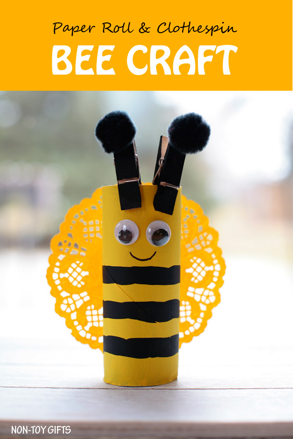 Easy Paper Roll Bee Craft For Kids Non Toy Gifts