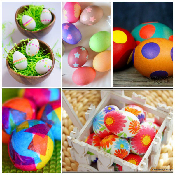 Ways for kids to decorate Easter eggs