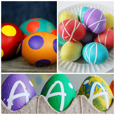 25 Ways for kids to decorate Easter eggs