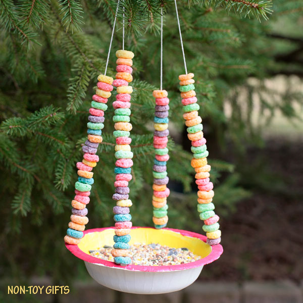 Attractive Paper Bowl Bird Feeder For Kids To Make This Spring. Watch Birds In Your Own