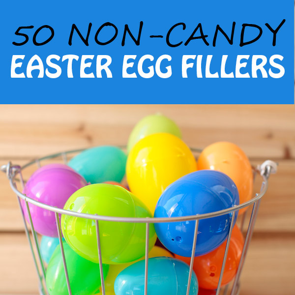 50 non-candy Easter egg fillers for preschool, kindergarten. Perfect for Easter egg hunt for kids. | at Non-Toy Gifts