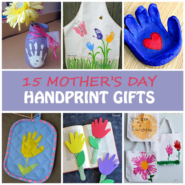 15 Mother's Day handprint gifts for kids to make for moms and grandmothers. Easy Mother's Day crafts for toddlers, preschoolers and kindergartners. | at Non-Toy Gifts