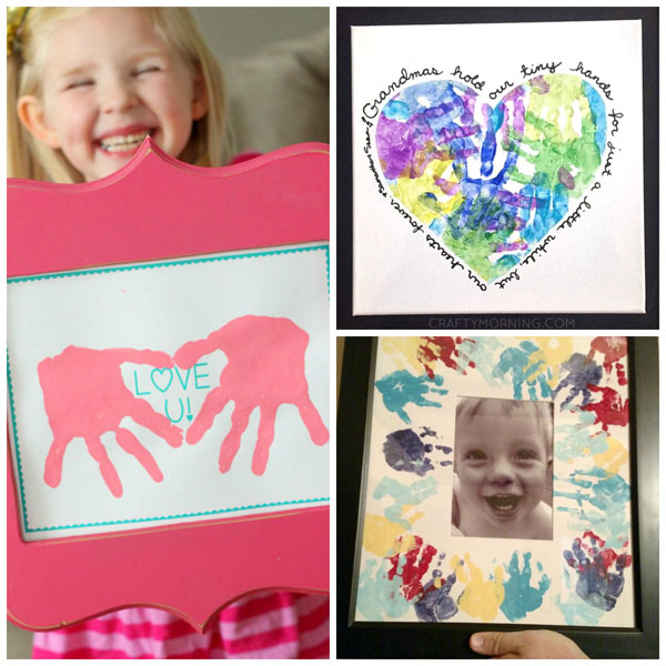 Mother's Day handprint Gifts for kids to make