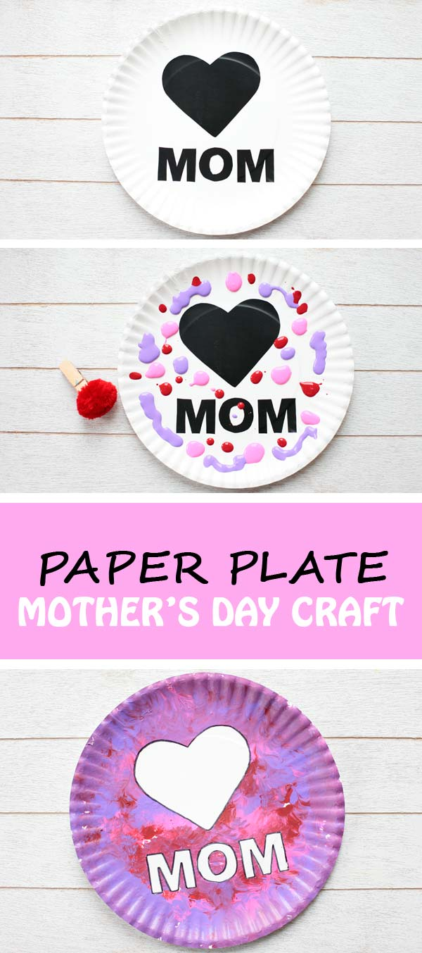 Paper Plate Mother S Day Craft For Kids Easy Art Project