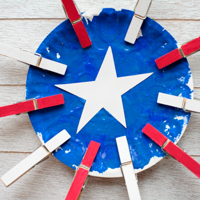 Paper Plate American Flag Craft for Kids
