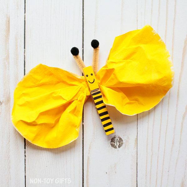 Clothespin Bee Craft Kids on Pipe Cleaner Crafts
