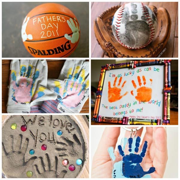 Father's Day handprint gifts for kids to make