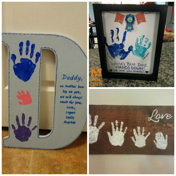 Father's Day handprint gifts: wall decor