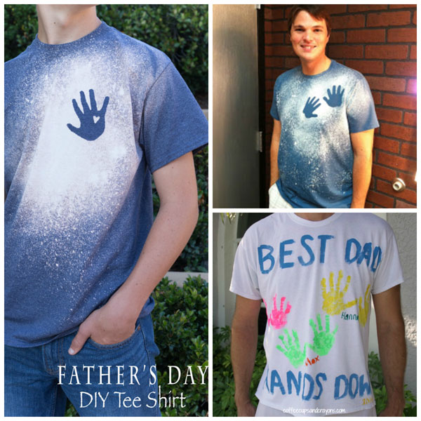 Father's Day handprint gifts: t-shirts