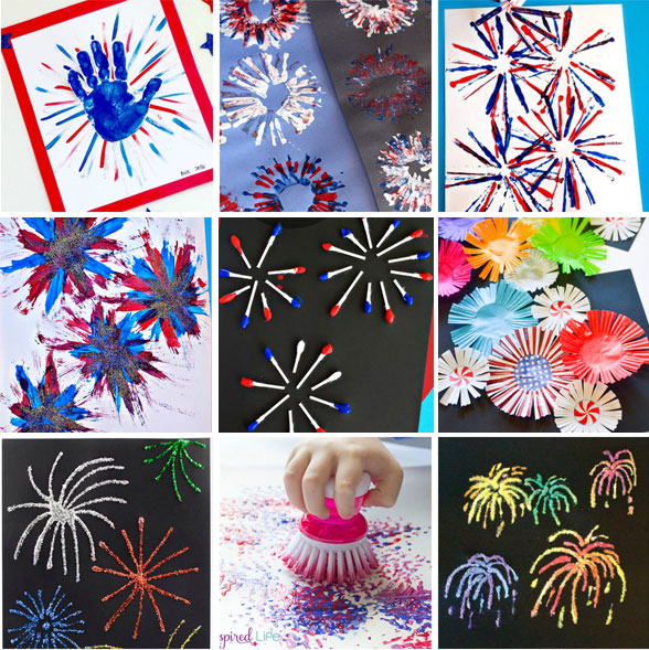 Fireworks crafts for kids