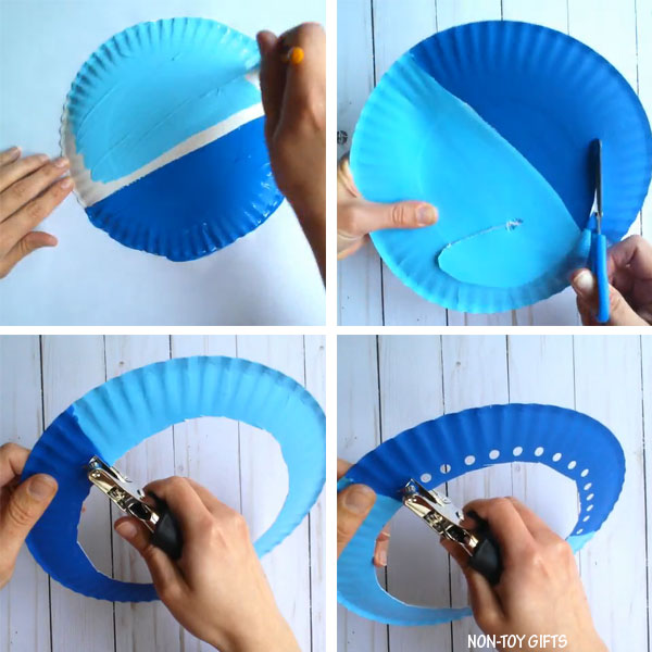 Paper plate boat craft for kids
