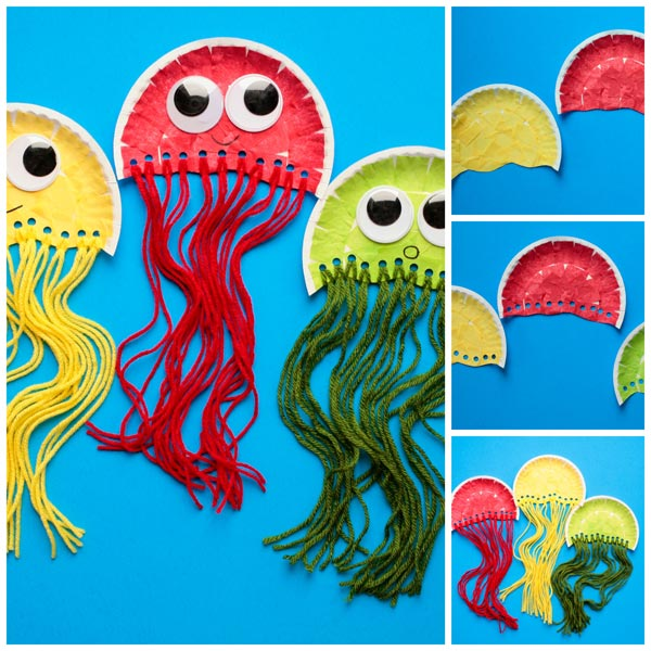 Paper Plate Jellyfish Craft For Kids Simple Summer Craft Ocean