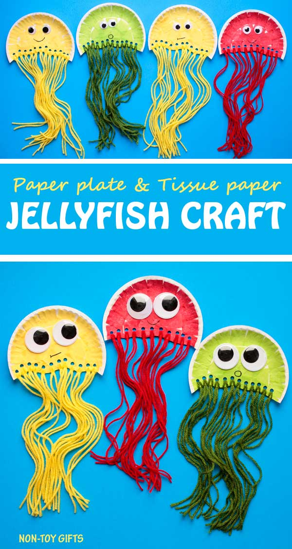 Paper Plate Jellyfish Craft For Kids Non Toy Gifts
