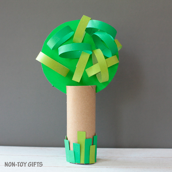 Four season paper roll tree craft summer