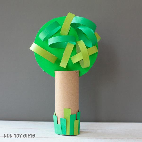 Four season paper roll tree craft summer