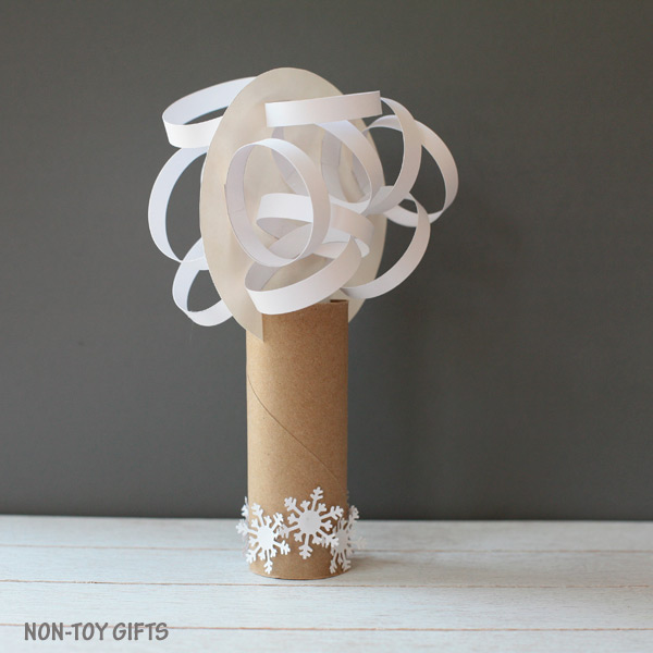 Four season paper roll tree craft winter