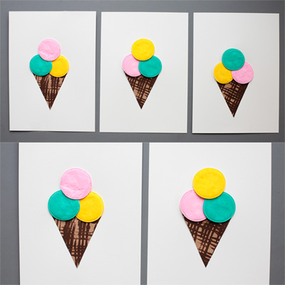 Cotton Pad Ice Cream Craft