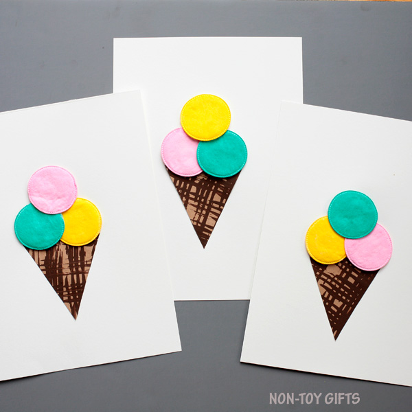 Ice cream craft for kids. Easy summer craft.