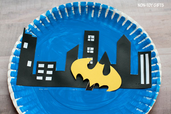 Batman craft for kids who love superheroes