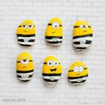 Minions in jail craft – Painted rocks