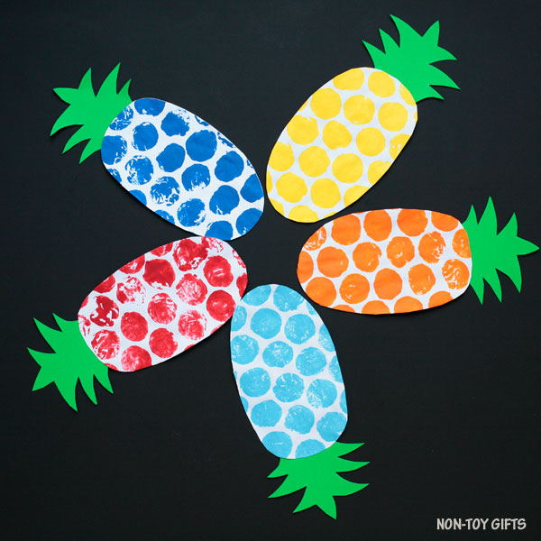 Paper pineapple craft for kids