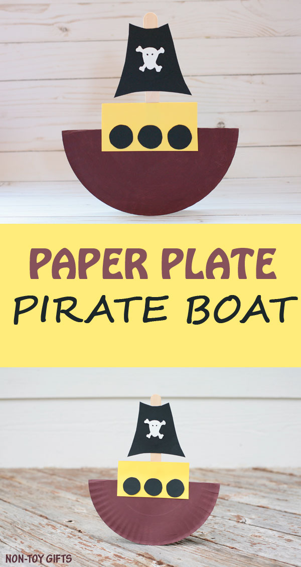 Rocking paper plate pirate boat craft for kids to make. Fun ship craft for preschoolers  sc 1 st  Non-Toy Gifts & Rocking paper plate pirate boat craft |