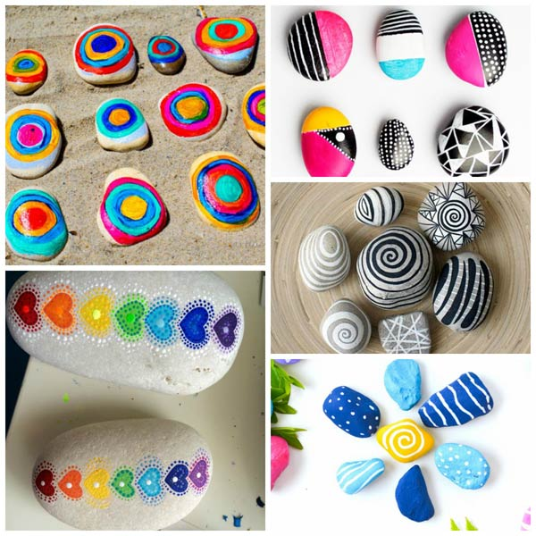 Painted rock art for kids
