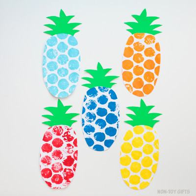 Bubble wrap pineapple craft featured image