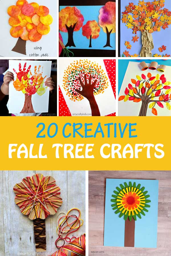 Tree craft ideas for kids to make this fall