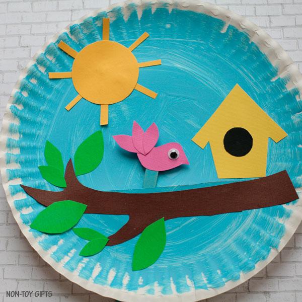 Birdhouse craft for kids