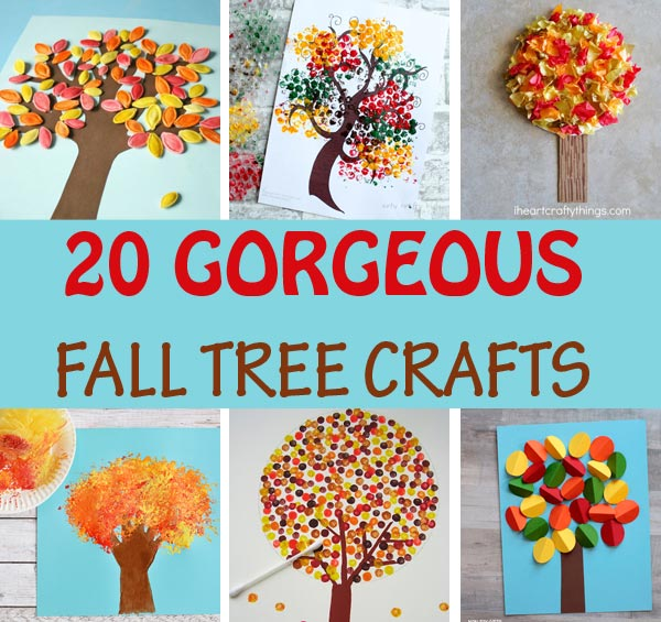 Creative fall tree crafts for kids to make this autumn